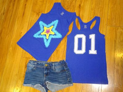 Summer Sport Fun athletic Girl Outfit Set M 7 8