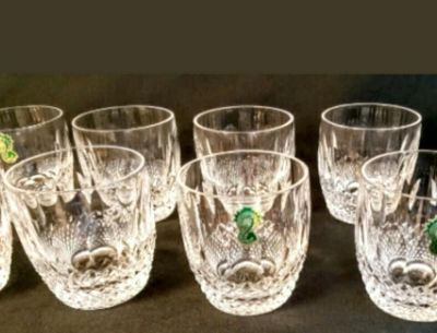 8 Vintage Waterford Crystal Colleen Old Fashioned Tumbler Glass 9 Oz.