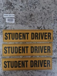 Student driver magnetic signs