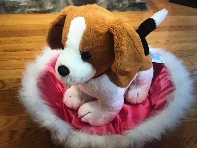 Build a bear puppy and build a bear bed