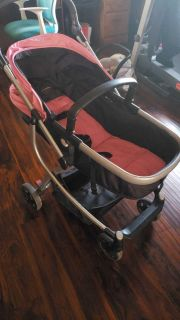 Large stroller with car seat