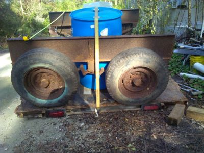 Dual Axle Assembly w/ Springs and Tires