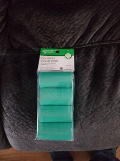 Brand new pet waste pickup bags 120 count.