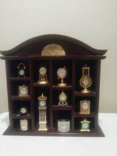 Clock Collection-Display Case Included