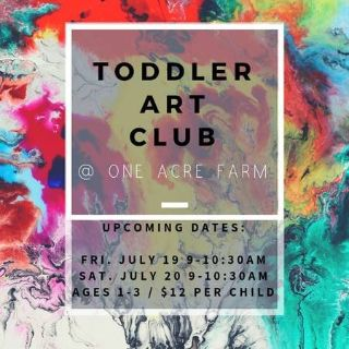 Toddler Art Club at One Acre Farm