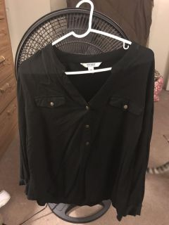 Old navy long sleeve pullover silk top