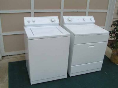 Washer and Dryer Whirlpool Cambered Face Set