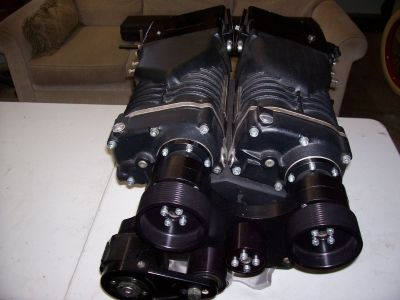 Twin Whipple Supercharger set complete. BB Chevy Brand New
