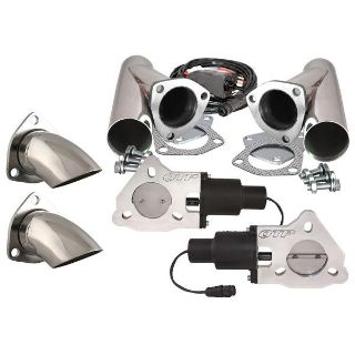 """Buy QTP QTEC50CPSK1 Dual 2.5"""" Electric Exhaust Valves Stainless Cutouts Turn Downs motorcycle in Suitland, Maryland, US, for US $498.88"""