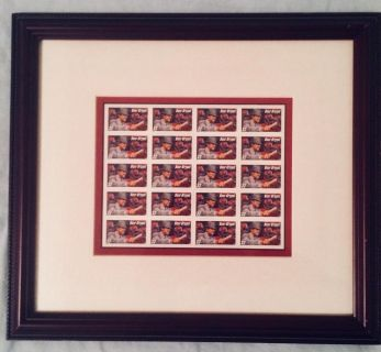 Professionally Framed Paul Bear Bryant Uncut Mint U.S. Postage Stamp Picturee