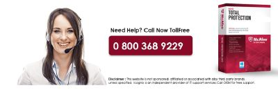 McAfee Technical Support Number 0-800-368-9229
