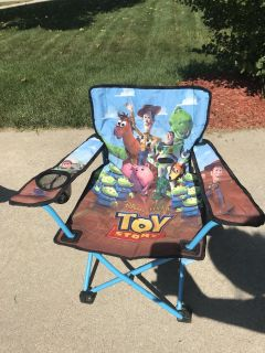 Toy story kids folding chair with case
