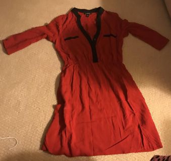 Red Dress with Pockets Small
