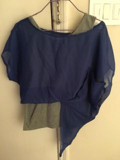 2 in 1 Blue&Grey Blouse