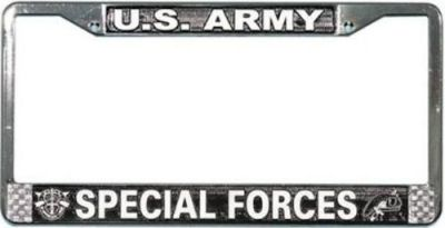 Find NEW U.S. Army - Special Forces Chrome License Plate Frame. Made in USA. motorcycle in Germantown, Maryland, United States, for US $17.89