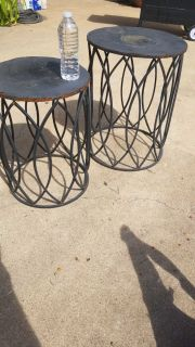 Metal outdoor patio tables