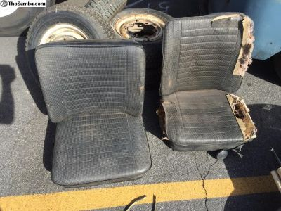 Black bay window walk thru seats (3- sets)