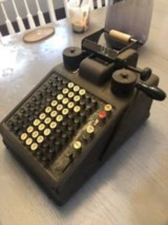 antique Adding Machine Calculator -still works