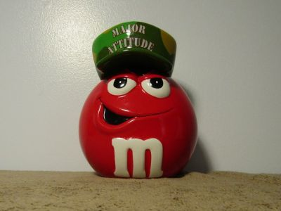 "Mars M&M's Galerie ""Major Attitude"" Ceramic Candy Container Jar 8"" Tall"