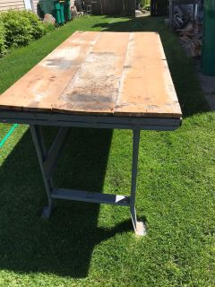Industrial long table/workbench