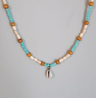 Unisex Surfer Necklace With Cowrie shell