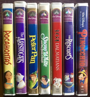Disney VHS movies and more!