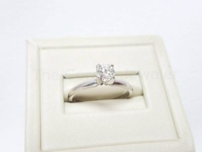 "14kt White Gold ""Hearts of Fire"" .50ct Diamond Ring"