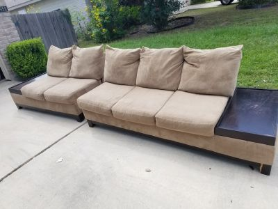 2 piece sectional brown sofa
