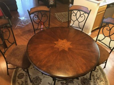 Round Dining Table & 4 Chairs for sale!