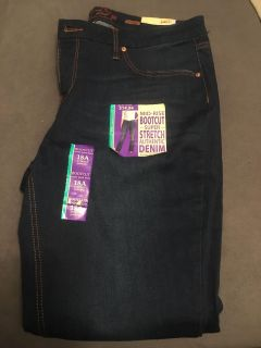 New Faded Glory Bootcut Jeans - Size 18
