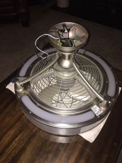 Enclosed 15 Ceiling Fan w/ Light