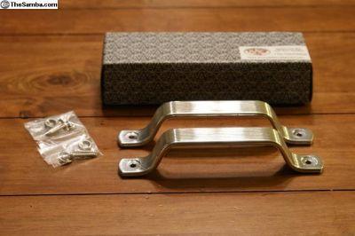 Cab Door Handle Pair - Fully Polished Aluminium