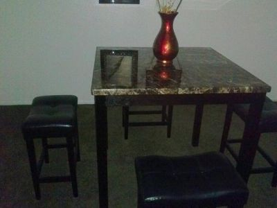 $250, Marble Top Dining Table $250