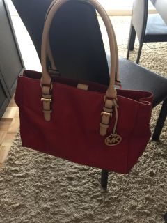 Authentic Michael Kors Red Leather Purse