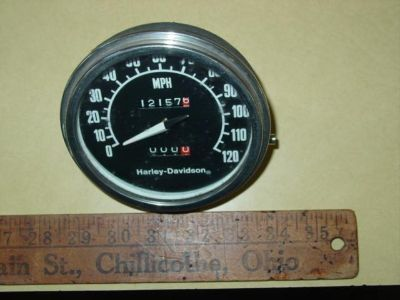 Buy harley shovelhead panhead speedometer vintage nightrain original low rider motorcycle in Chillicothe, Ohio, US, for US $9.99
