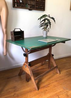 Antique Drafting Table/ Standing Desk/Vintage Desk