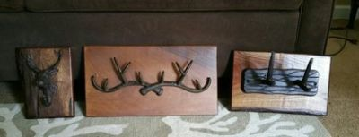 Set of Antler Hook Wall Decor