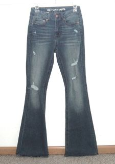 Womens 4 Bethany Mota High Waist Distressed Flare Denim Jeans Womens 4 x 33 Long Tall