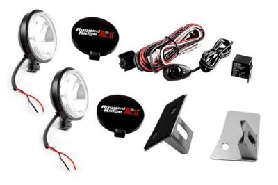 Buy Rugged Ridge 12496.07 - Windshield Fog Light Kit w Stainless Steel Mounts motorcycle in Suwanee, Georgia, US, for US $153.63