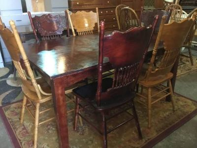 Dining Table and Six Chairs - Delivery Available