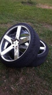 """26"""" wheels and tires 6 lug chevy $1000"""