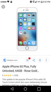 Looking for iPhone 6s plus!!