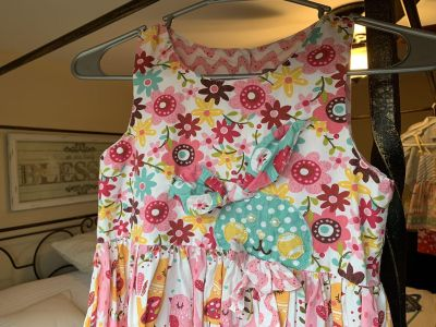 Jelly and the Pug Easter dress/bunny size 10