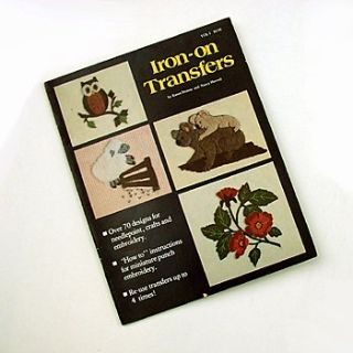 VTG IRON ON TRANSFER PATTERN SHEETS 16pgs needle punch embroidery needlepoint etc