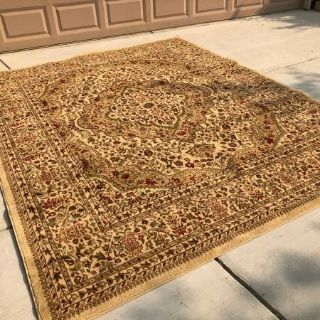"Wilshire Collection Kerman Ivory Area Rug 7'10"" x 9'9"""
