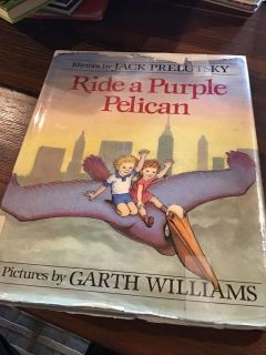 Ride a Purple Pelican Large Hardcover - former library