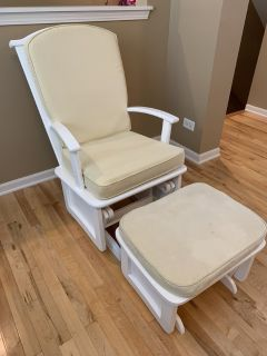 Pottery Barn Baby Glider Rocker with Ottoman plus extra set of chushions