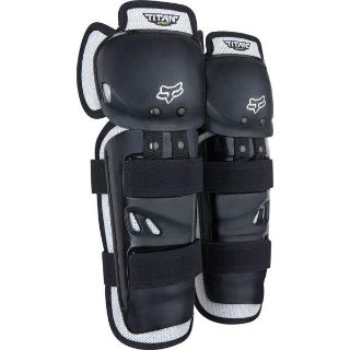 Purchase Black/Silver Fox Racing Titan Sport Youth Knee/Shin Guards motorcycle in San Bernardino, California, US, for US $16.95