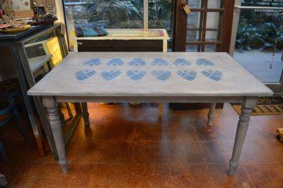 Faded Indigo Boho 6-Seater Dining Table