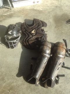 Easton catchers gear. Chest protector, helmet and leg guards. PPU